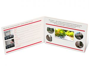 Video-in-print-A5 Promotec Offen